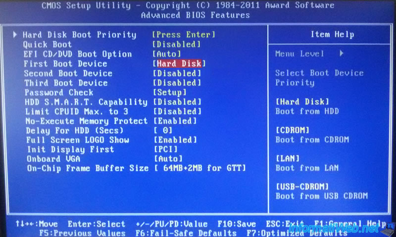 Gigabyte - Bypass the Loading Operating System message