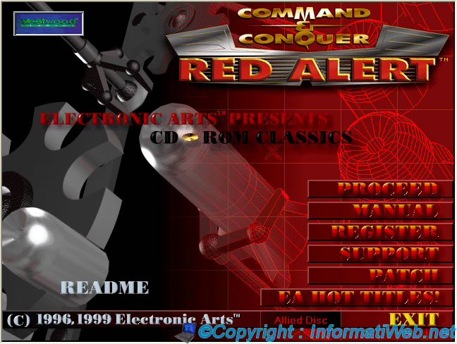 C & C Red Alert 1 - Install under Windows XP SP3 - C & C Red Alert 1