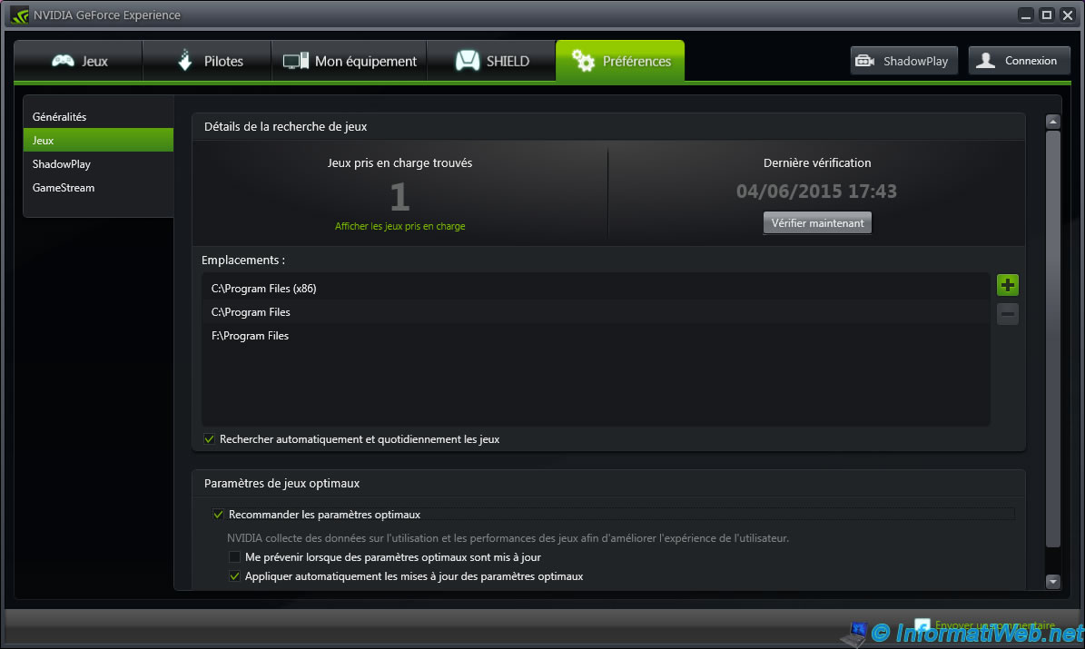 Geforce experience v