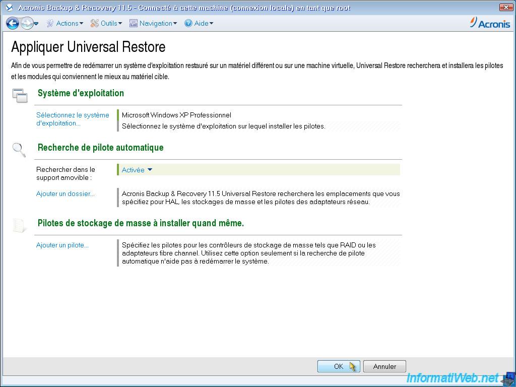 is acronis universal restore free