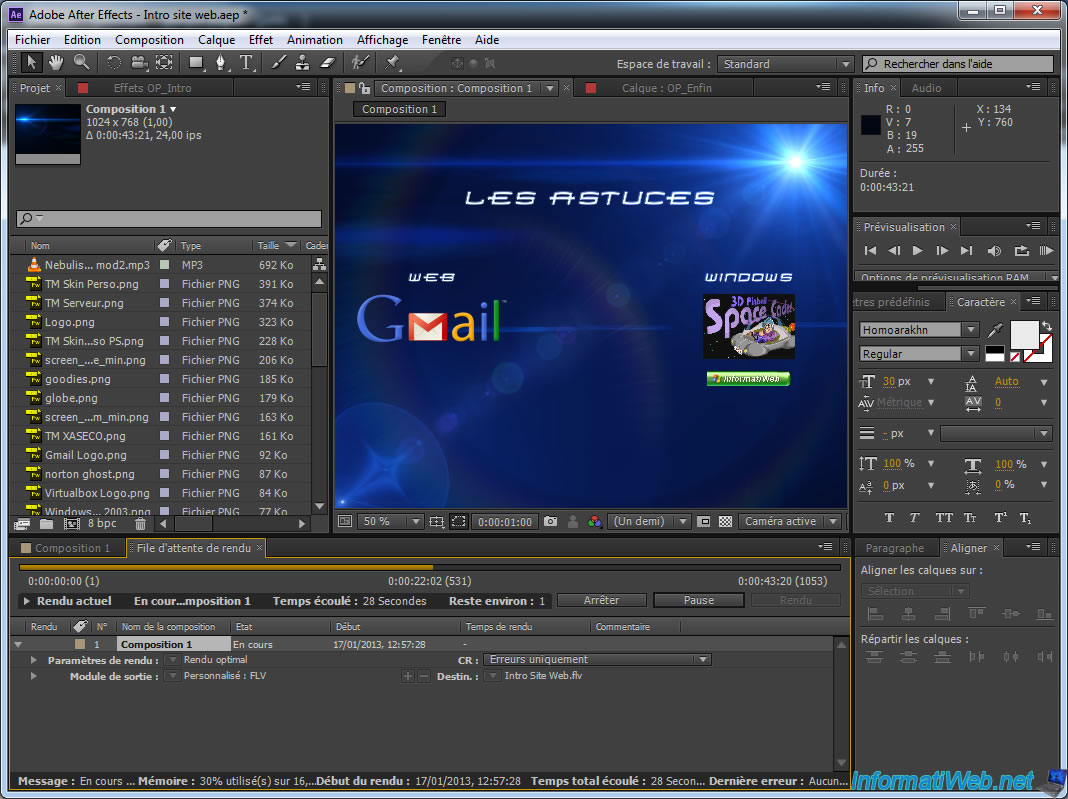 Adobe After Effect - Export a large animation to SWF by