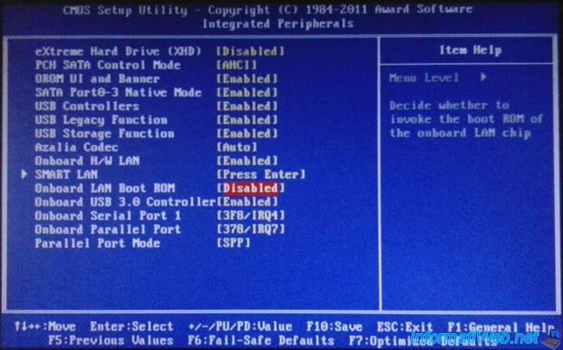 Enable and configure the network boot (PXE) - Page 2 - BIOS