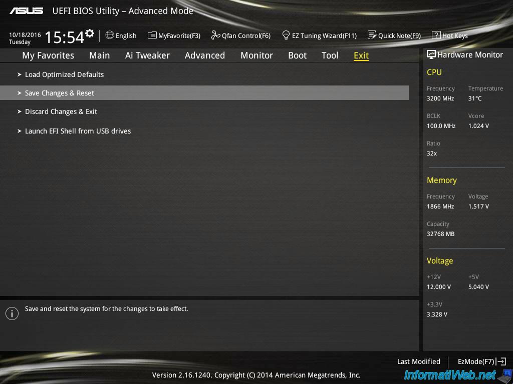 Reset BIOS settings - BIOS - InformatiWeb
