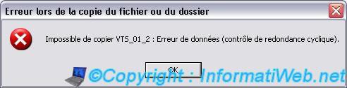 Error : Cyclic Redundancy Check - Windows - InformatiWeb