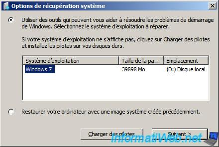 réinstaller Windows 7 réparation de démarrage