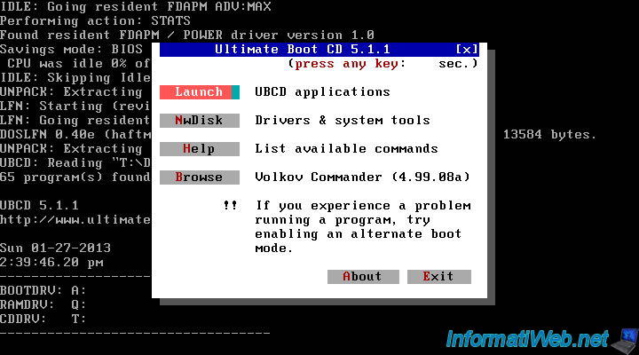 Features of Ultimate Boot CD - Articles - InformatiWeb