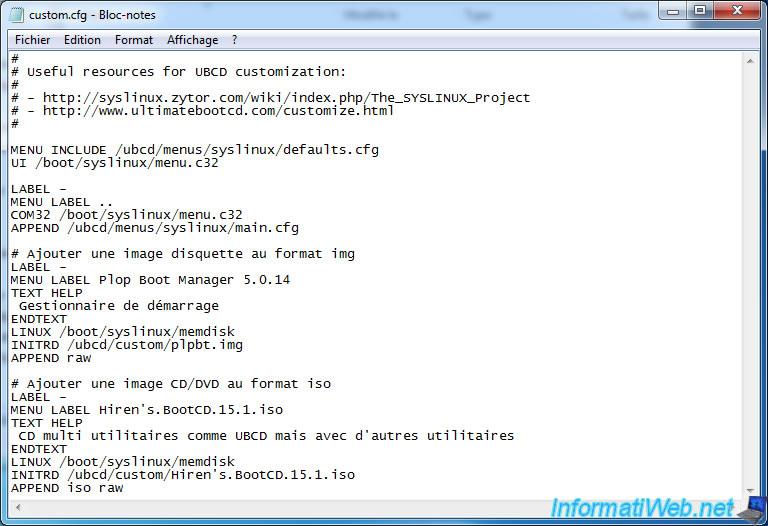 UBCD - Customize Ultimate Boot CD - Live CD - InformatiWeb