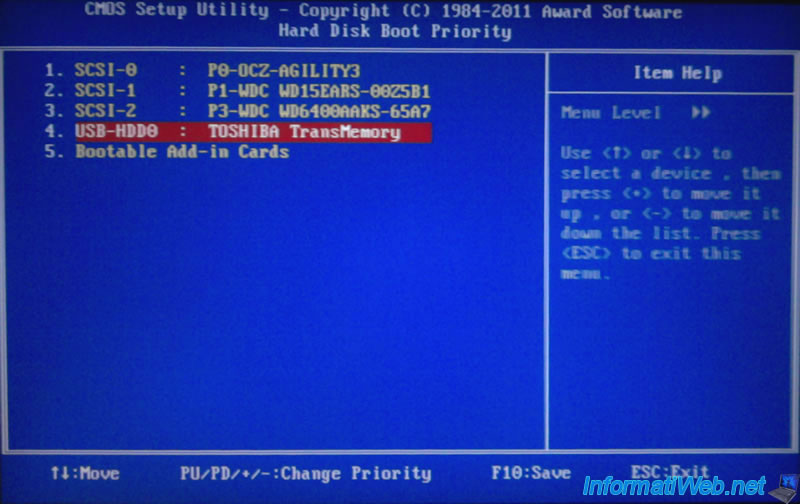 Change the BIOS boot priority - Page 2 - BIOS - InformatiWeb