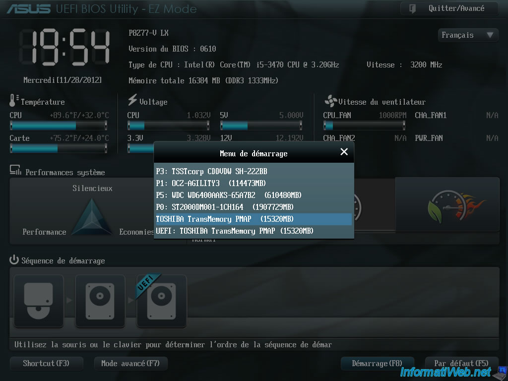Change the BIOS boot priority - BIOS - InformatiWeb