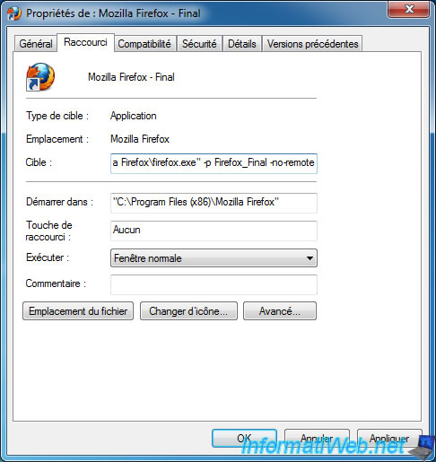Use multiple versions of Mozilla Firefox in parallel on Windows