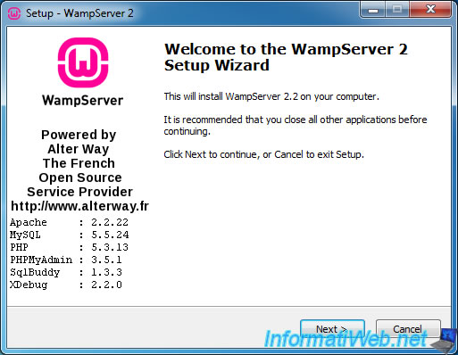 SERVER TÉLÉCHARGER 2.2 WAMP