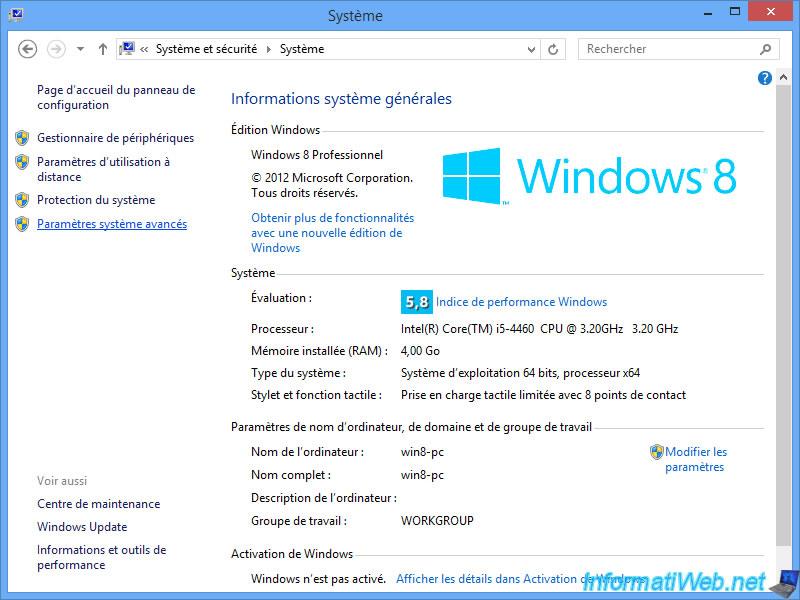 Probleme Activation Restauration Systeme Windows
