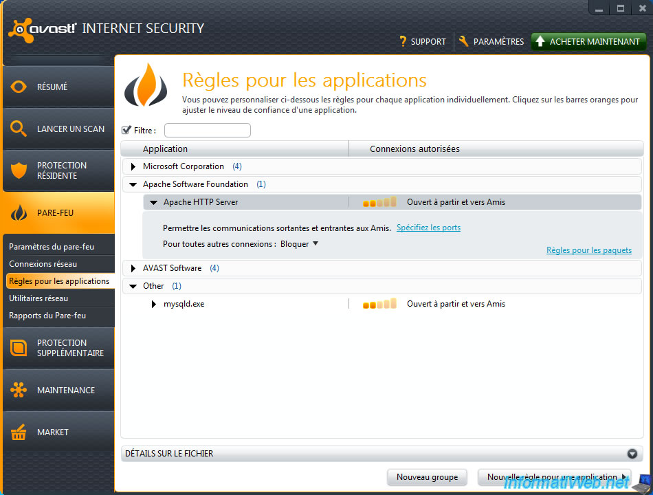 avast firewall blocking port
