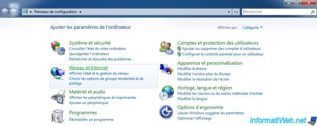 Know your LAN IP address - Windows - InformatiWeb