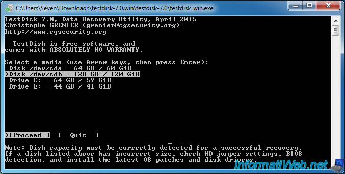 Testdisk restaurer une partition supprim e ou perdue - Reparer table de partition disque dur ...