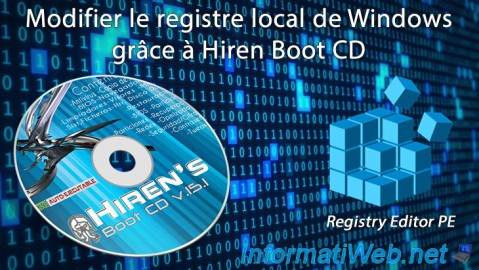 Hiren Boot CD - Modifier le registre local de Windows