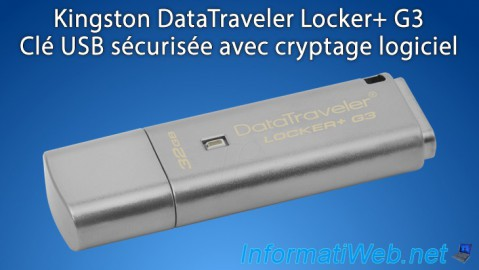 Kingston DataTraveler Locker+ G3 - Clé USB sécurisée