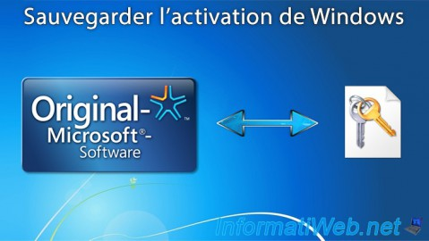 Sauvegarder l'activation de Windows