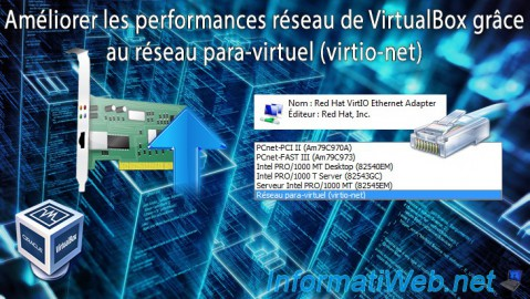 VirtualBox - Réseau para-virtuel (virtio-net)