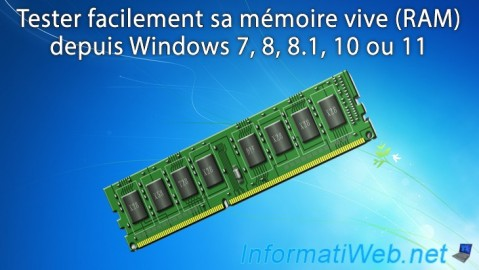 Windows - Tester sa mémoire vive (RAM) facilement