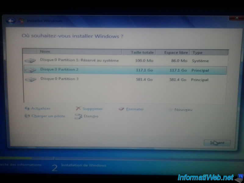 Installer windows 7 sur pc portable