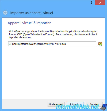 VirtualBox - Export and import virtual machines in OVF (OVA