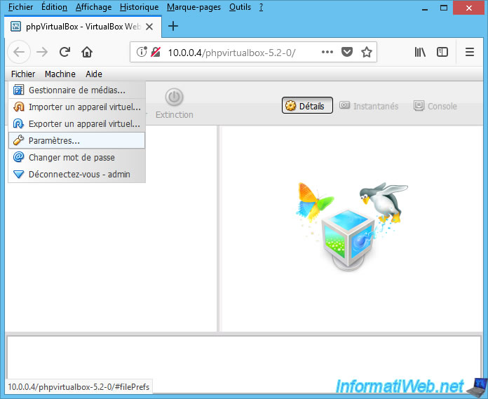VirtualBox - Manage your VirtualBox virtual machines from a