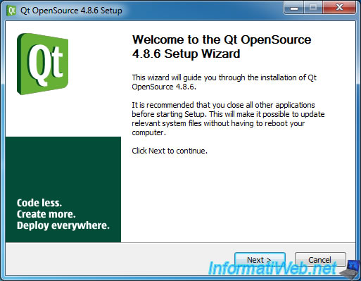 Install and configure Qt Creator to develop with QT4 - QT
